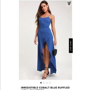 Royal blue Lulus high low dress
